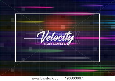 Velocity vector background 06. Speed movement pattern design. High speed and Hi-tech abstract technology concept
