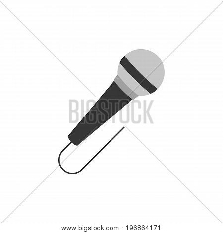 microphone icon isolated on whith background, flat design vector