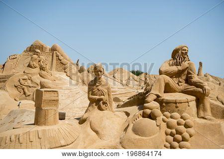 Portugal Algarve Pera Fiesa Sand Sculpture
