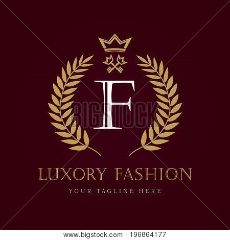 Luxury Fashion calligraphic crown key letter