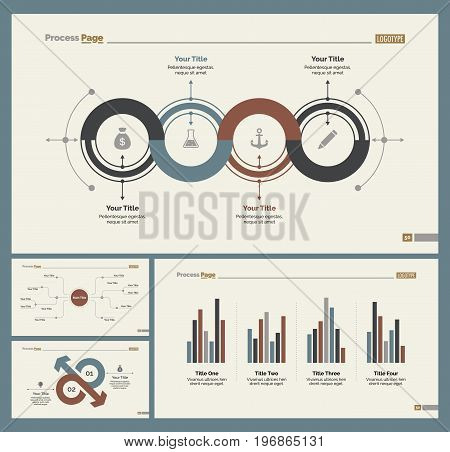 Infographic design set can be used for workflow layout, diagram, annual report, presentation, web design. Business and economics concept with process charts and mind map.