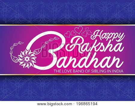 abstract artistic raksha bandhan text vector illustration