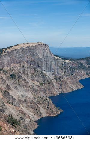 Llao Peak At Crater Lake National Park