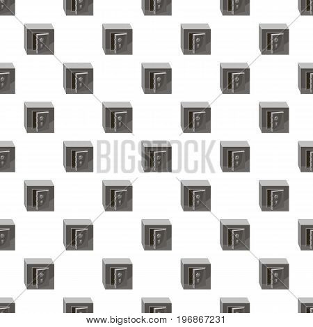 Open security safe pattern seamless repeat in cartoon style vector illustration
