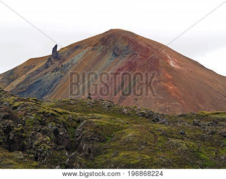 colorful mountain brennisteinsalda in Landmannalaugar rainbow hills in Iceland poster
