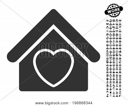 Hospice icon with black bonus job graphic icons. Hospice vector illustration style is a flat gray iconic symbol for web design, app user interfaces.