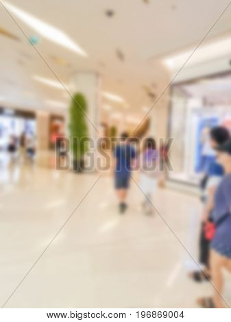 Abstract blur people in shopping center