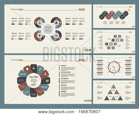 Infographic design set can be used for workflow layout, diagram, annual report, presentation, web design. Business and management concept with process and timing charts.