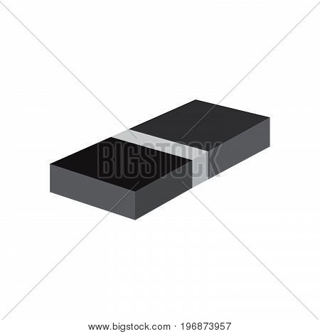 Eraser icon over white background design illustration