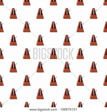 Classic metronome pattern seamless repeat in cartoon style vector illustration