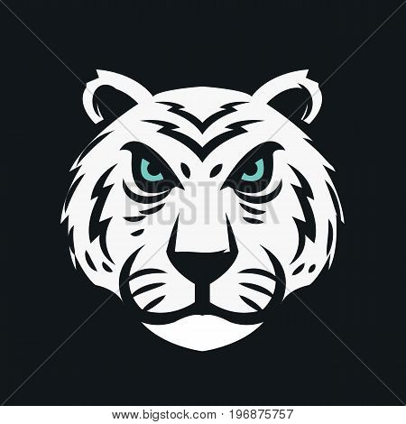 Tiger head. Tiger face logo. Vector stock.