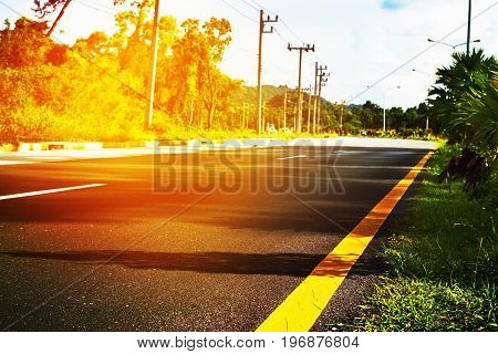 Route Landscape Road Marking Line Roadside Bright