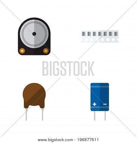 Flat Icon Technology Set Of Hdd, Transistor, Memory And Other Vector Objects