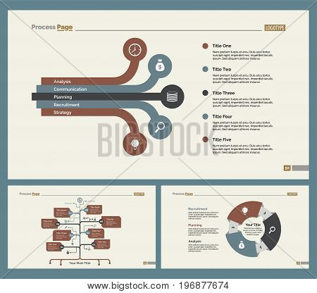 Infographic design set can be used for workflow layout, diagram, annual report, presentation, web design. Business and teamwork concept with process and flow charts.