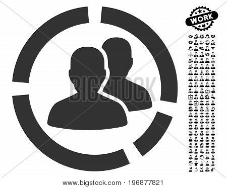 Patient Diagram icon with black bonus professional pictograph collection. Patient Diagram vector illustration style is a flat gray iconic symbol for web design, app user interfaces.