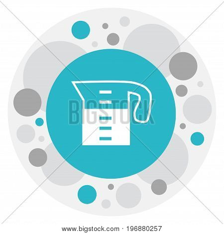 Vector Illustration Of Cooking Symbol On Measuring Cup Icon