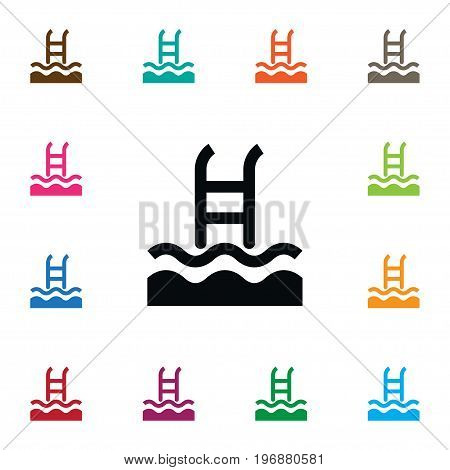 Basin Vector Element Can Be Used For Swimming, Pool, Basin Design Concept.  Isolated Swimming Pool Icon.