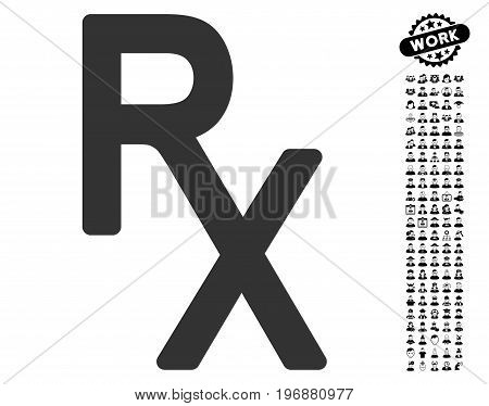 Receipt icon with black bonus people graphic icons. Receipt vector illustration style is a flat gray iconic symbol for web design, app user interfaces.