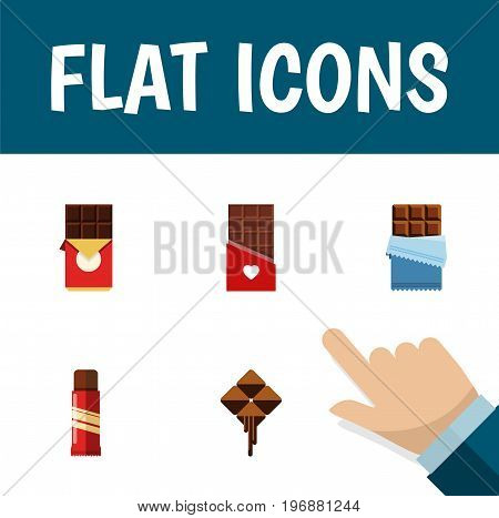 Flat Icon Bitter Set Of Sweet, Bitter, Delicious And Other Vector Objects