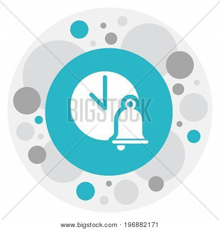 Vector Illustration Of Science Symbol On Ring Buzzer Icon