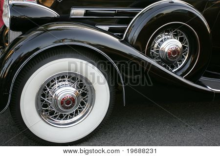 tires at vintage car show