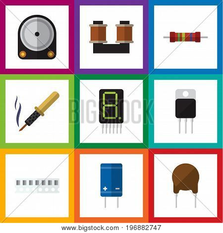 Flat Icon Technology Set Of Memory, Display, Repair And Other Vector Objects