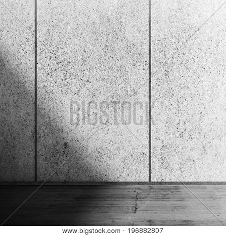 Abstract Concrete Room Interior With Shadow Area