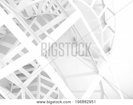 Abstract White Digital Background, Wire Structure