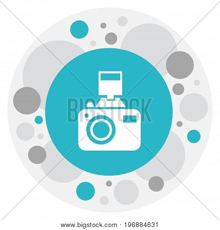 Vector Illustration Of Travel Symbol On Photographing Icon