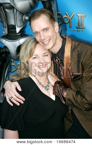 UNIVERSAL CITY, CA - JUNE 24: Actor Doug Jones (r) with his wife Laurie attend the 34th Annual Saturn Awards at the Hilton Hotel June 24, 2008 in Universal City, California.