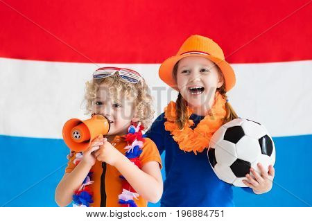 Kids Supporting Netherlands Football Team