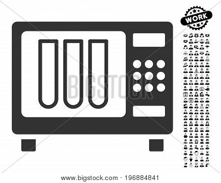 Sterilizer icon with black bonus profession design elements. Sterilizer vector illustration style is a flat gray iconic symbol for web design, app user interfaces.