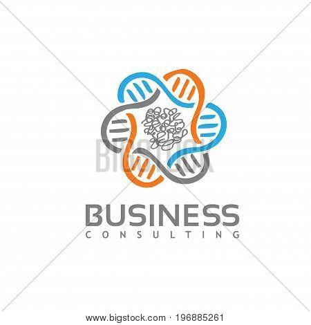pharmacy logo,science logo concept, DNA and lab vector logo