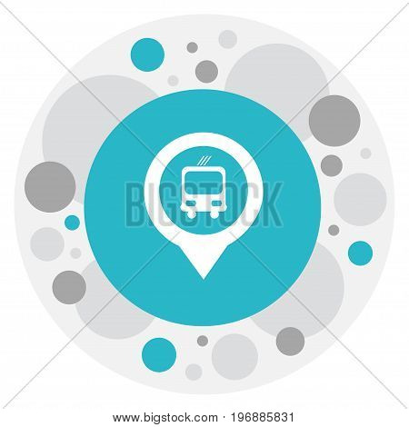 Vector Illustration Of Location Symbol On Bus Stop Pin Icon