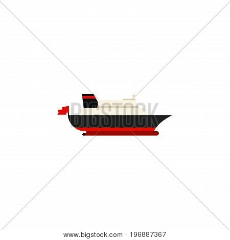 Cargo Vector Element Can Be Used For Transport, Cargo, Ship Design Concept.  Isolated Transport Flat Icon.