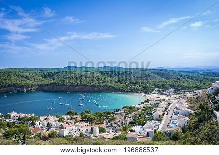 Small bay of Cala Montgo in Costa Brava. Montgo beach is a natural and awesome place of la Escala and Torroella de Montgri in Girona province, Catalonia, Spain