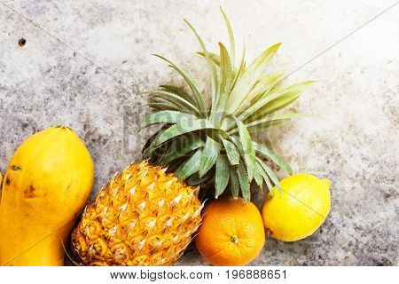 Tropical Fruits Raw Eating Concept Food Background