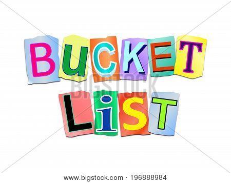 Bucket List Concept.