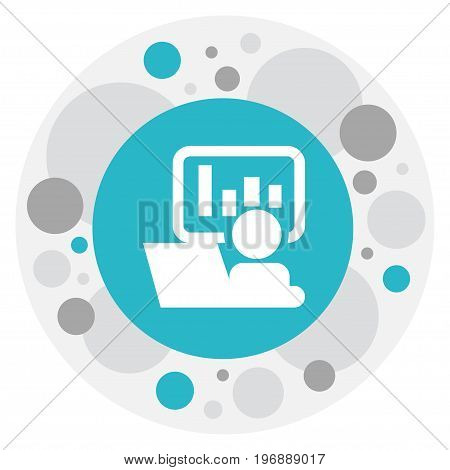 Vector Illustration Of Bureau Symbol On Presentation Icon