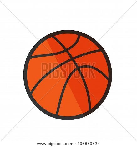 Basketball ball isolated on background. Basketball icon. Vector stock.