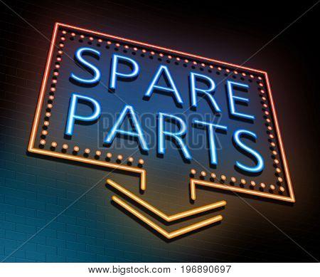 Spare Parts Concept.