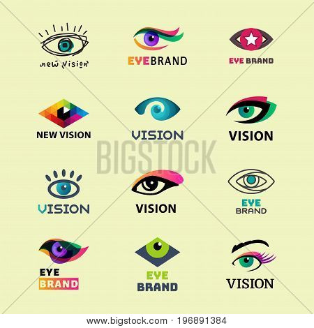 Eye blinker business icon daylight glimmer template logotype idea keeker light peeper company logo badge vector illustration. Look see creative eyeball optical watch vision emblem.
