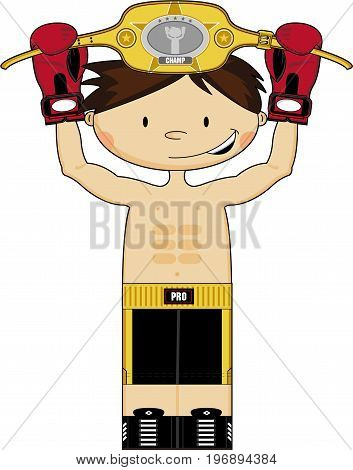 Little Boxer Holding Belt.eps