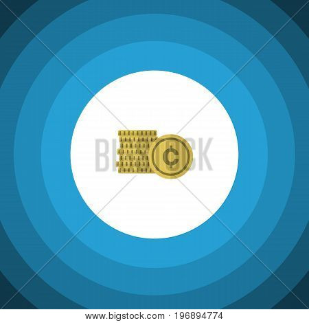 Cash Vector Element Can Be Used For Cash, Shiner, Coin Design Concept.  Isolated Coin Flat Icon.