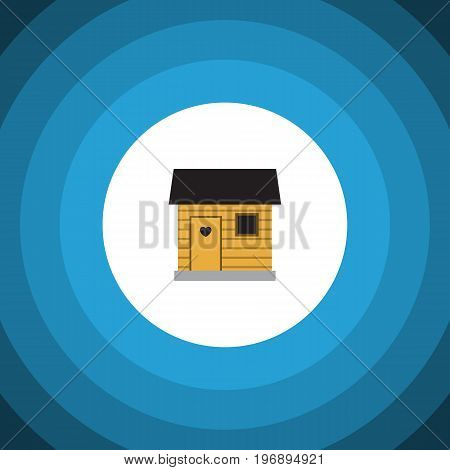 Stabling Vector Element Can Be Used For Stabling, Barn, Farmhouse Design Concept.  Isolated Barn Flat Icon.
