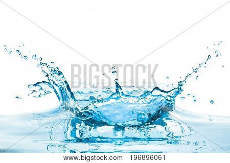 water splash with reflection