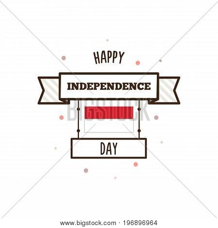 Indonesia Independence Day poster. Vector illustration. Banner
