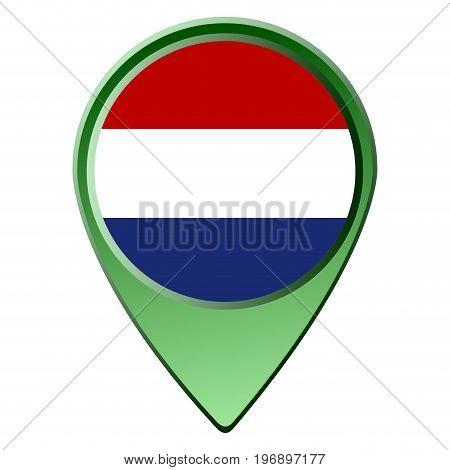 Isolated Dutch Flag