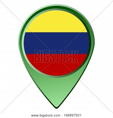 Isolated Ecuadorian Flag
