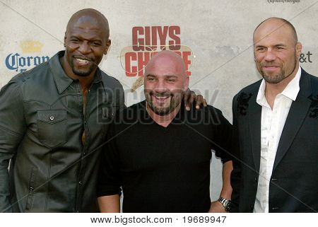 CULVER CITY, CA - JUNE 5: Terry Crews, Jay Glazer & Randy Couture arrive at the 4th annual Spike TV's